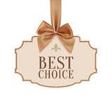 Best choice banner with golden ribbon Royalty Free Stock Image