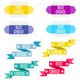 Best choice banners ribbons, collection. Royalty Free Stock Photography