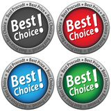 Best choice best price icons. Vector illustration of best choice, best price icons on white background Royalty Free Stock Photography