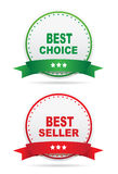 Best choice and bestseller labels Royalty Free Stock Images