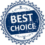Best choice blue rubber stamp. Royalty Free Stock Photo