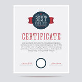 Best choice certificate. Royalty Free Stock Photography