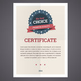 Best choice certificate template. Stock Image