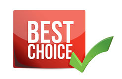 Best choice and check mark illustration Royalty Free Stock Photos