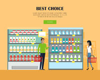 Best Choice Concept Banner in Flat Design. Stock Image