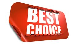 Best choice concept, cut out in sticker Royalty Free Stock Image