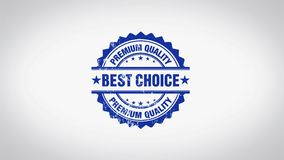` BEST CHOICE ` 3D Animated Round Wooden Stamp Animation