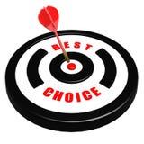Best choice dart board Royalty Free Stock Photo