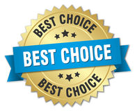 Best choice gold badge Royalty Free Stock Photography
