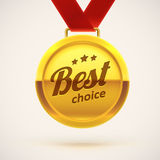 Best choice gold medal eps 10 Royalty Free Stock Photography