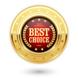 Best choice - golden insignia medal Stock Photography