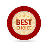 Best choice golden label Royalty Free Stock Images