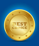 Best choice. Golden label abstract background Stock Photo