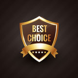 Best choice golden label symbol design Stock Images