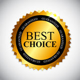 Best Choice Golden Label  Vector Illustration Royalty Free Stock Photos