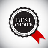 Best Choice Golden Label Vector Illustration Stock Photography