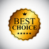 Best Choice Golden Label Vector Illustration Royalty Free Stock Images