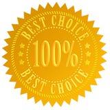 Best choice guarantee vector illustration