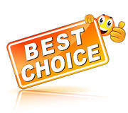 Best choice icon. Vector illustration of best choice icon on white background Stock Photography