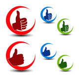 Best choice icons - gesture hand Stock Images