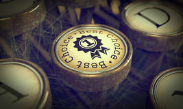Best Choice Key on Grunge Typewriter. Royalty Free Stock Photography