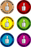 Best choice label. Set of  best choice label Royalty Free Stock Photography