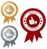Best choice label. S, vector illustration Royalty Free Stock Images