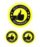 Best choice label. Best choice - recommended label. Vector available Stock Photos