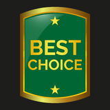 Best choice label. On black background, vector illustration Stock Image