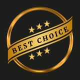 Best choice label. On black background. Vector illustration Stock Images