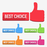 Best choice label Royalty Free Stock Photo