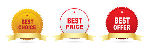 Best choice label Stock Photos