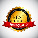 Best Choice Label with Ribbon Vector Illustration royalty free illustration