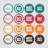 Best Choice Label with Ribbon Vector Illustration Stock Photos