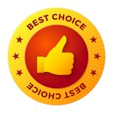 Best choice label, round stamp for high quality products Royalty Free Stock Images