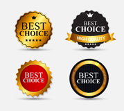Best Choice Label Set Vector Illustration Stock Image