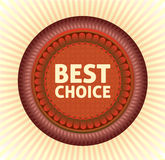 Best choice label Stock Photo
