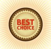 Best choice label Royalty Free Stock Photos