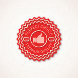 Best Choice Label  Vector Illustration with Thumb Royalty Free Stock Image