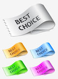 Best choice labels Royalty Free Stock Photo