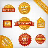 Best choice labels. Illustrations of best choice labels and tags Royalty Free Stock Image