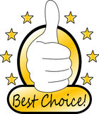Best choice mark. Concept Stock Photography