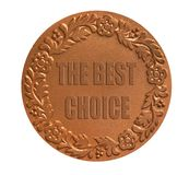 Medal for awarding. The best choice medal for awarding the winner as success achievement concept Royalty Free Stock Image
