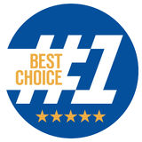 Best choice No.1. Round sign. Stock Photos