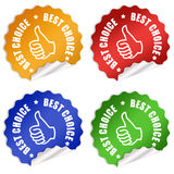 Best choice offer. Best choice stickers set over white Stock Images
