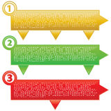 Best choice, offer and seller labels with ribbon. Royalty Free Stock Image