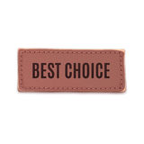 Best choice, old vintage handmade leather label Royalty Free Stock Photography