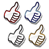 Best choice pointers - gesture hand Royalty Free Stock Image