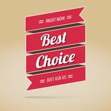 Best choice poster, vector illustration Royalty Free Stock Photo