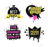 Best choice and premium quality badges and. Stickers. Signs on a white background Stock Photo